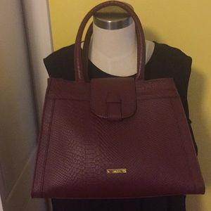 Iman Leather Satchel Bag
